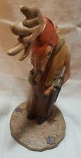 "Deer hunting figure statue 8"" shotgun hat"