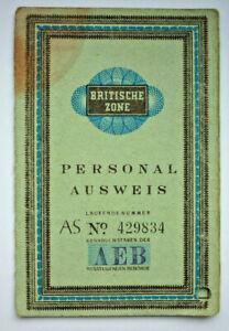 Britische Besatzungszone, Personalausweis Düsseldorf                  (Art.4987)