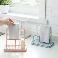 Kitchen Organizer Dish Cloths Drain Rack Clean Sponge Shelf Storage Holder E6A1