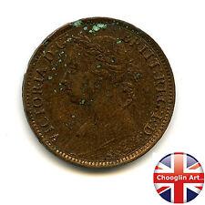 A British Bronze 1874 H VICTORIA FARTHING Coin (Heaton)          (Ref:1874_37/8)