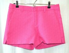 Banana Republic Women's Size 4 Shorts Pink Flat Front Textured MSRP $49 NWT