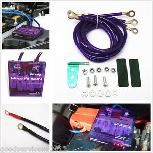 Vehicles Efficient Fuel Saver Grounding Voltage Stabilizer Regulator Kits Purple