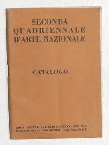 Catalogo Seconda Quadriennale d'Arte Nazionale - Roma - 1935