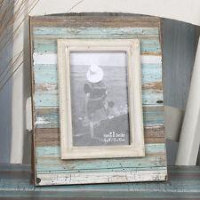 "Coastal Chic Shabby Driftwood Standing Photo Frame Medium 6'x 4"" photos"