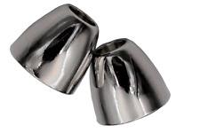 Kordel Enden Metall Silber glänzend Länge 11mm 2 Stück