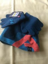 Under Armour Big Boys 3-Pc. Beanie Hat & Gloves Set, Size M, 4-6 Years Old