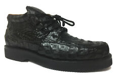 Mens Black Crocodile Western Shoe Sneakers Real Exotic Leather Rodeo Size 7.5