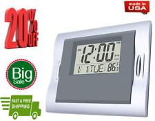 Vmarketingsite Digital Wall Clocks Grey, Silent Desk Clock Battery Operated Larg
