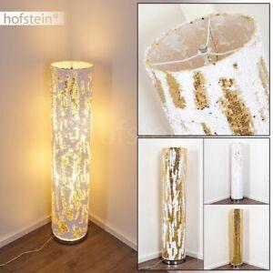 Wohn Schlaf Zimmer Raum Beleuchtung weiß/gold Boden Stand Steh Lampen Leuchten