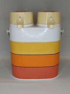 Vintage Peacock Vacuum Bottle Hot Cold Twin Thermos Double Pump Dispenser