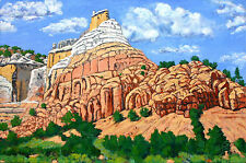GHOST RANCH NEW MEXICO SOUTHWESTERN ORIGINAL ACRYLIC PAINTING READY TO HANG