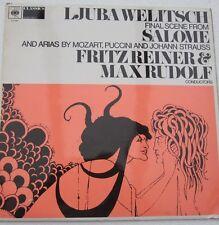 Ljuba Welitsch Richard Strauss Salome Mozart Puccini Fritz Reiner Max Rudolf LP