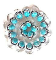 Wholesale !! Lot 50 PCs. Blue Larimar Gemstone 925 Sterling Silver Plated Ring