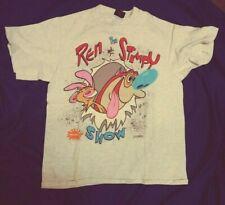 Vintage Ren and Stimpy Show T Shirt Tee Shirt Size L (#T-5)
