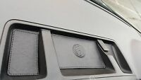 BLACK Leather/BLACK stitch. COINtray inserts VW T5.1 TRANSPORTER - 09'onward