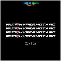 Adesivi carena Ducati Hypermotard 1100S 939 796 821 styckers moto vinile bianco