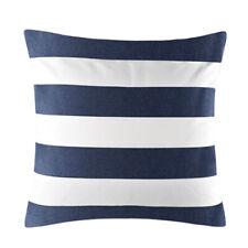 FT- Navy Blue White Stripe Pattern Throw Decor Cushion Cover Pillow Case 45x45cm