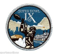 SUPER BOWL 9 ~ Steelers vs Vikings OFFICIAL SB IX Willabee & Ward NFL PATCH ONLY