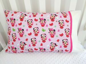 "New ""Minnie Mouse"" Christmas Toddler pillowcase - Purple/pink -60 x 40cm"