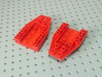 Lego Slope Inverted Wedge 6x4 with Recessed Centre [4856] Red x2