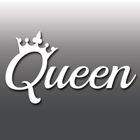 Queen Funny Laptop/Car/Van/Bike Window Bumper JDM Euro Dub Vinyl Decal Sticker