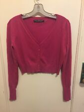 Andrew Marc  New York Womens  Pink Sweater Cardigan Size M