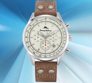 Tommy Bahama Shore Road Chronograph Men's Watch and Bracelet Set - 313525SLV040