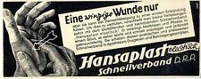 Parche hansaplast elástico ásperos-asociación rápidamente una pequeña Erice... anuncio 1938