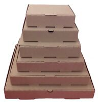 Plain Brown Pizza,Takeaway Boxes, Good Quality Light Postal Boxes  5 - 9 inch