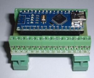 Nano V3.0 Compatible  DIN rail screw terminal  CH340 Chip UK Seller