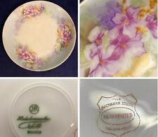 Vintage HUTSCHENREUTHER Plate Hand Painted Porcelain ~Buchanan Studios  ~Signed