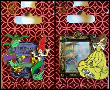Disney 2 Pin Lot Little Mermaid WDW Ariel Ride + Belle Fantasyland lenticular