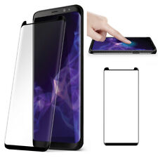 For Samsung Galaxy S9 Tempered Glass [Scratch-Resistant] Screen Protector -Black