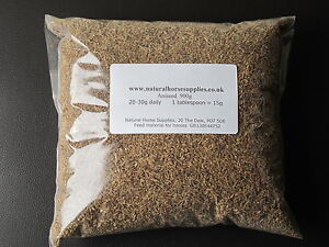 Aniseed 900g - supports horse equine digestion, eases gas in gut, fussy eaters