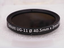 Schott UG-11 40.5mm UV-IR dual bandpass filter for Ultraviolet UV photography
