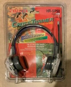 AIWA Cross Trainer Headphone AM/FM Radio HR-SP50 Exercise Monitor NEW READ DESC