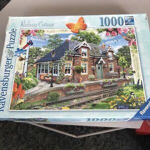 RAVENSBURGER 'Railway Cottage' 1000 Piece Jigsaw Puzzle