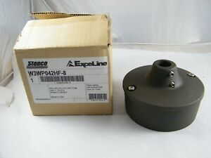 """NEW STONCO EXCELINE WALL BALLAST BOX 3/4"""" STEM WRINKLED BRONZE COLOR W3WP042HF-8"""