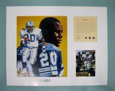 BARRY SANDERS Detroit Lions 1996 NFL Football 11x14 Lithograph Print (scare)