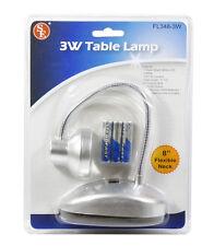 "3 Watt 1 Super Bright White LED Reading Table Lamp w/ 8"" Flexible Neck #FL348-3W"