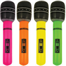 Inflatable Neon Microphone  Disco Party Karaoke Blow Up Microphone  UK Stockist