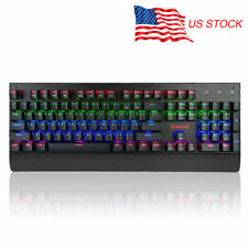 US STOCK Redragon RGB Multi-LED Mechanical Gaming Keyboard Anti-ghosting 104keys