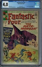 CGC 4.0 FANTASTIC FOUR #21 WHITE PAGES 1ST APPEARANCE OF THE HATE-MONGER
