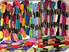 50 Anchor Uni Point écheveaux coton fil de broderie soie couleurs assorties NEUF