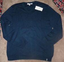NEW CALVIN KLEIN Men V Front Sweater Men XL X-Large Blue NEW NWT