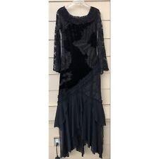 Vintage Casadei Velvet Lace Mesh Maxi Dress Flowy Size L