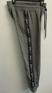 DKNY Sport Women's Size S COMMUTER JOGGER WITH LOGO TAPING Grey/Black