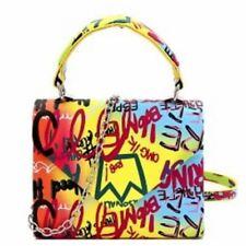 Graffiti Retro Box Flap Satchel Cross Body Bag Purse Pocketbook