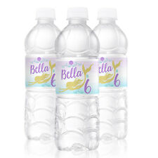10 Mermaid Dive Theme Birthday Party Favors Personalized Water Bottle Labels