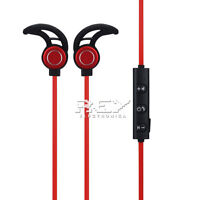 Auriculares BLUETOOTH 4.1 AMW-810s Manos Libres Deportivos Color Negro-Rojo s37